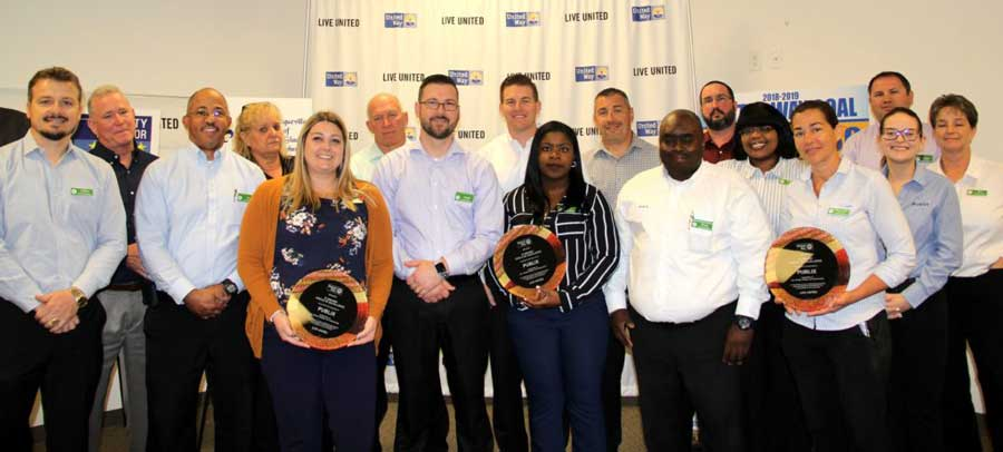 Pulix employees recognized for United Way Lee donations