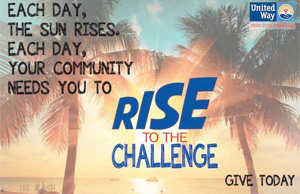 Rise to the Challenge United Way Campaign Logo