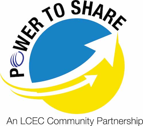 LCEC Power to Share logo